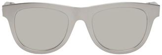Bottega Veneta Silver Aluminum Sunglasses