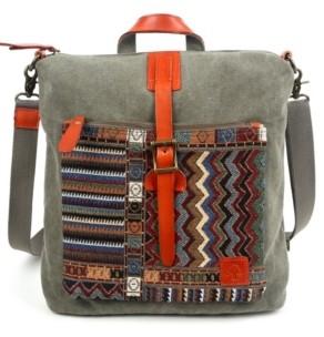 TSD BRAND Four Season Convertible Canvas Backpack