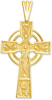 Celtic 14k Gold Charm, Cross Charm