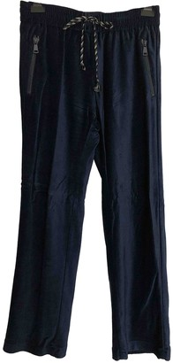 Maliparmi Blue Cotton Trousers