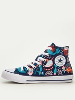 Chuck Taylor All Star Hi Mermaid Childrens Trainers NavyTeal