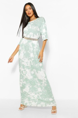 boohoo The Oversized Tie Dye Maxi