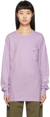 Noah NYC Purple Pocket Long Sleeve T-Shirt
