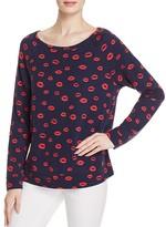 Soft Joie Annora B Lipstick Print Sweatshirt