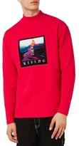 Topman Men's Volcano Graphic Turtleneck Sweatshirt