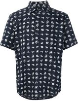 3x1 fish print shortsleeved shirt