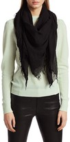 Frame Fringed Woven Scarf