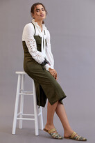 Thumbnail for your product : Anthropologie Sueded Slip Midi Dress By in Green Size 16
