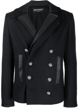 Balmain Two-Collar Double-Breasted Coat