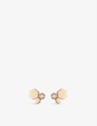 Chaumet Bee My Love 18ct rose-gold and diamond earrings