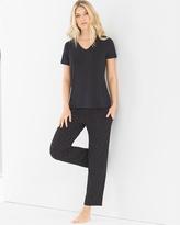 Soma Intimates Ankle Length Pajama Set Festivity Black