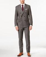 MICHAEL Michael Kors Men's Classic-Fit Black and Beige Glen Plaid Double Breasted Suit