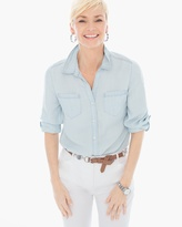 Chico's Light Wash Denim Shirt