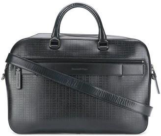 Ermenegildo Zegna Embossed Detail Laptop Bag