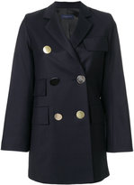 Eudon Choi contrast button coat