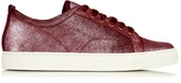 Lanvin Metallic-leather low-top trainers