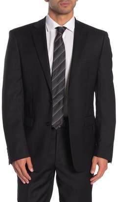 Calvin Klein Solid Black Suit Suit Separate Jacket