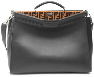 Fendi Peekaboo Leather Briefcase