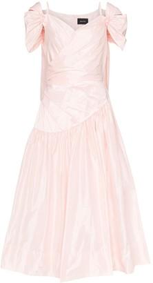 Simone Rocha Taffeta Gathered Dress
