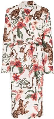 Desmond & Dempsey Soleia tie-waist robe
