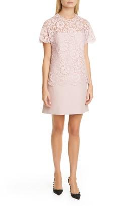 Valentino Lace & Crepe Couture Minidress