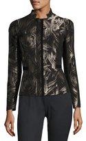 Lafayette 148 New York Belle Spark-Print Stretch-Wool Jacket, Multi