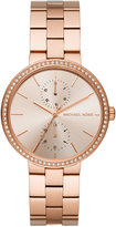 Michael Kors Women's Garner Rose Gold-Tone Stainless Steel Bracelet Watch 38mm MK6439, A Macy's Exclusive Style