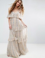Needle & Thread Needle and Thread Floral Pleated Printed Maxi Dress