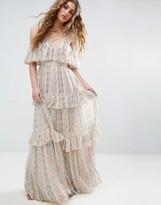 Needle & Thread Needle And Thread Floral Pleated Printed Maxi Dress