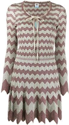 M Missoni Zig-Zag Knit Mini Dress