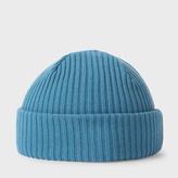 Paul Smith Men's Petrol Cashmere Beanie Hat