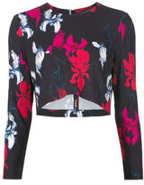 Thakoon flower print cropped top