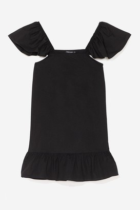 Nasty Gal Womens We Frill See You There Ruffle Mini Dress - Black - 8, Black