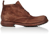 Elia Maurizi Men's Reverse-Leather Lace-Up Boots-BROWN, NUDE