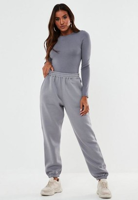 Missguided Gray Oversized 90S Joggers