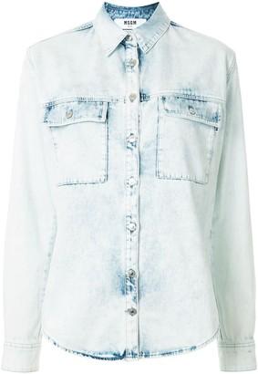 MSGM Button-Up Denim Shirt