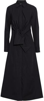 Max Mara Raro Tie-front Cotton-poplin Midi Shirt Dress