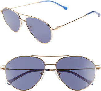 Colors In Optics Breezy 57mm Aviator Sunglasses