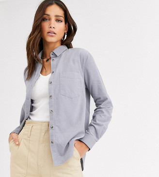 New Look Tall cord shirt in light grey