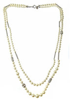 Charmed Double Strand of Pearls Necklace