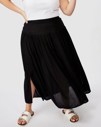 Cotton On Curve Curve Woven Maya Maxi Skirt