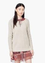 Mango Outlet V-Back Sweater