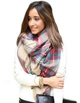 Coromose Women Fashion Blend Blanket Oversized Tartan Scarf Wrap Shawl