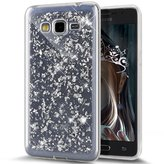 Galaxy Grand Prime Case,ikasus Ultra Thin Clear Crystal Bling Shiny Sparkle Giltter Rhinestone Clear Rubber Transparent TPU Soft Silicone Bumper Case Cover for Samsung Galaxy Grand Prime G530