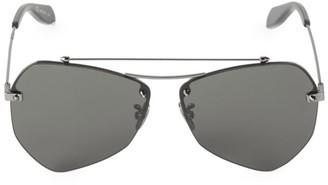 Alexander McQueen 55MM Aviator Sunglasses