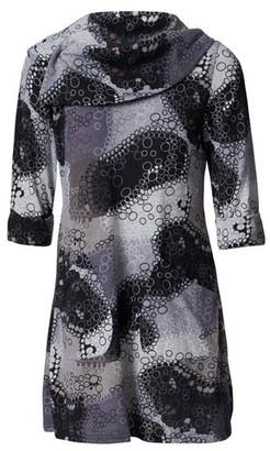 Dorothy Perkins Womens *Izabel London Grey Polka Dot Cowl Neck Tunic Top, Grey