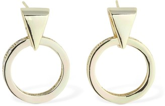 Iosselliani 18kt Mini Pendant Hoop Earrings