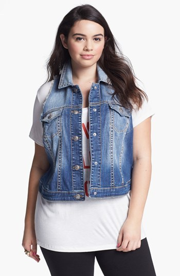 Silver Jeans Co. Denim Vest (Juniors Plus)