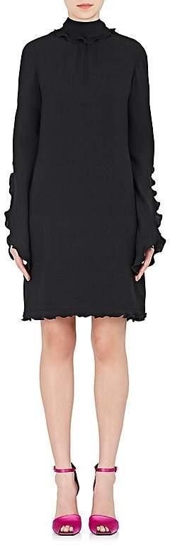 Derek Lam WOMEN'S RUFFLE SILK GEORGETTE SHIFT DRESS