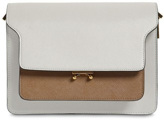 Marni MEDIUM TRUNK SAFFIANO SHOULDER BAG